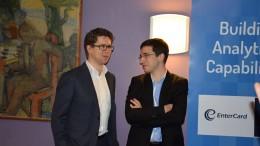 Laurent Fressinet i samtale med Jon Ludvig før åpningen. Foto: Tarjei J. Svensen