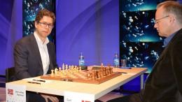 Jon Ludvig Hammer før partiet mot Curt Hansen. Foto: Tarjei J. Svensen