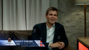 En fornøyd Magnus Carlsen etter partiet mot Wesley So. Foto: Sinquefield Cup