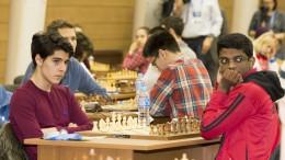 Aryan før oppgjøret mot inderen i 6.runde. Foto: Maria Emelianova
