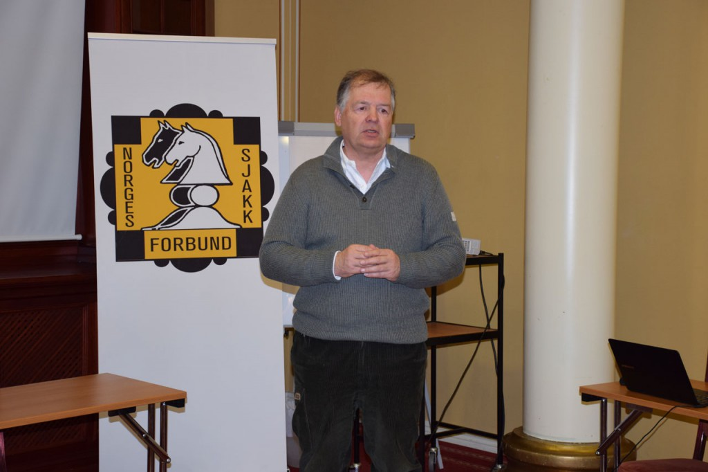 General Secretary of the Norwegian Chess Federation Geir Nesheim. Photo: Tarjei J. Svensen