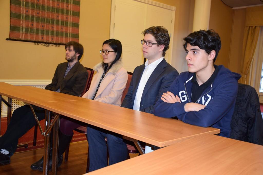 Nils Grandelius, Yifan Hou, Jon Ludvig Hammer & Aryan Tari. Photo: Tarjei J. Svensen