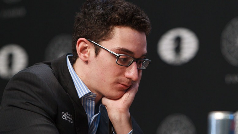 Fabiano Caruana. Foto: WORLD CHESS Press Office; Evgeny Pogonin
