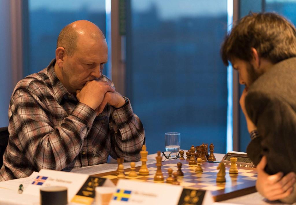 Einar Valdimarsson tok kanskje sin største skalp i karrieren med seieren over Nils Grandelius. Foto: Lennart Ootes