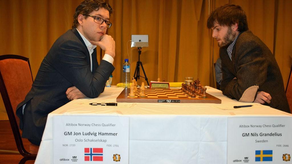 Jon Ludvig Hammer og Nils Grandelius.