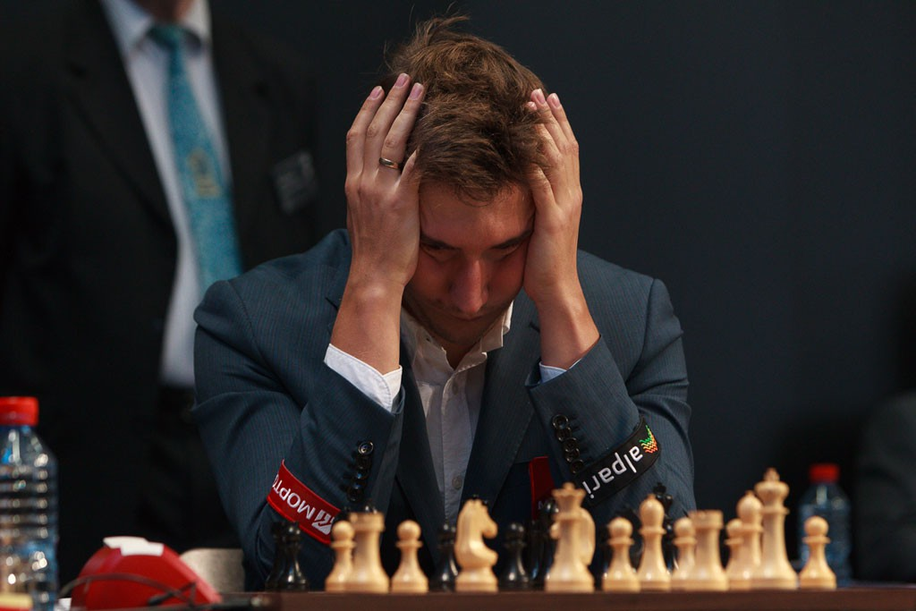 Blir Sergey Karjakin Carlsens motstander i New York? Foto: WORLD CHESS Press Office; Evgeny Pogonin