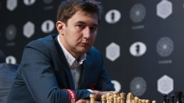 Sergey Karjakin leder Kandidatturneringen. Foto: WORLD CHESS Press Office; Evgeny Pogonin