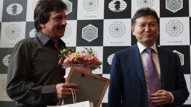 Kirsan Ilyumzhinov under Kandidatturneringen i Moskva. Foto: WorldChess
