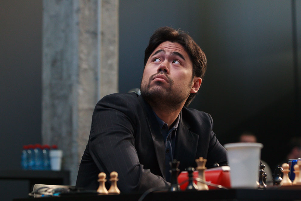 Nakamura er nå hektet av i kampen om å få møte Magnus Carlsen. Foto: WORLD CHESS Press Office; Evgeny Pogonin