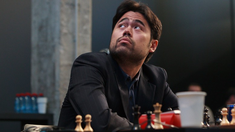 Det kan bli dyrt for Nakamura. Foto: WORLD CHESS Press Office; Evgeny Pogonin