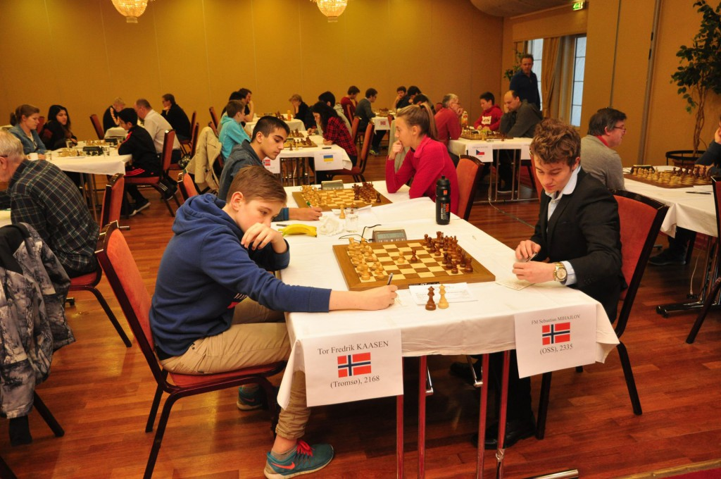 Fra TV 2 Chess International på Fagernes i romjula. Foto: Tom Eriksen
