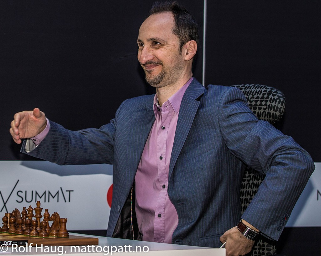 Veselin Topalov. Photo: Rolf Haug