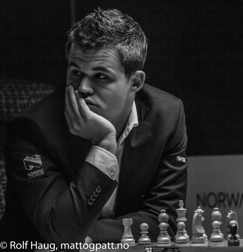 Magnus in a thoughtful moment. Photo: Rolf Haug