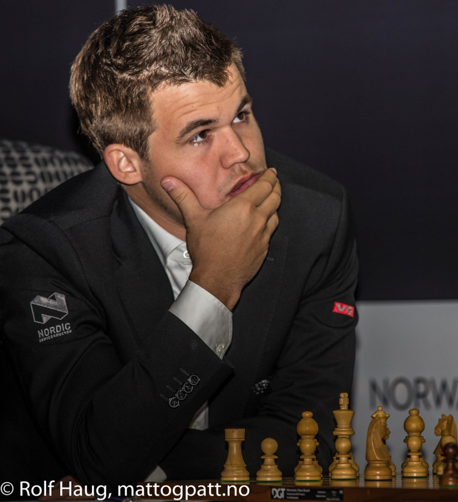 Magnus Carlsen. Photo: Rolf Haug