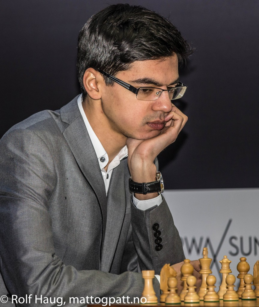 Can Anish Giri remain undefeated vs Magnus Carlsen? Photo: Rolf Haug