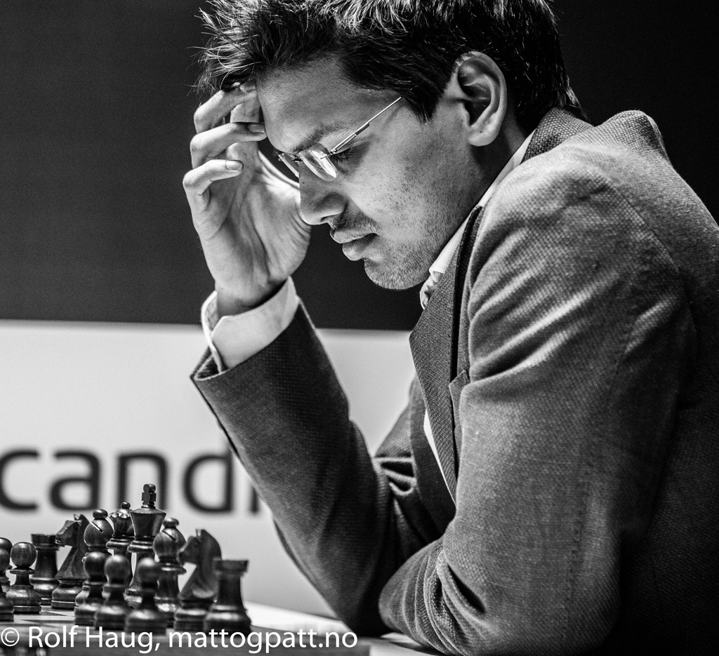 Pentala Harikrishna got a rough start in Stavanger losing vs Magnus Carlsen with black. Photo: Rolf Haug