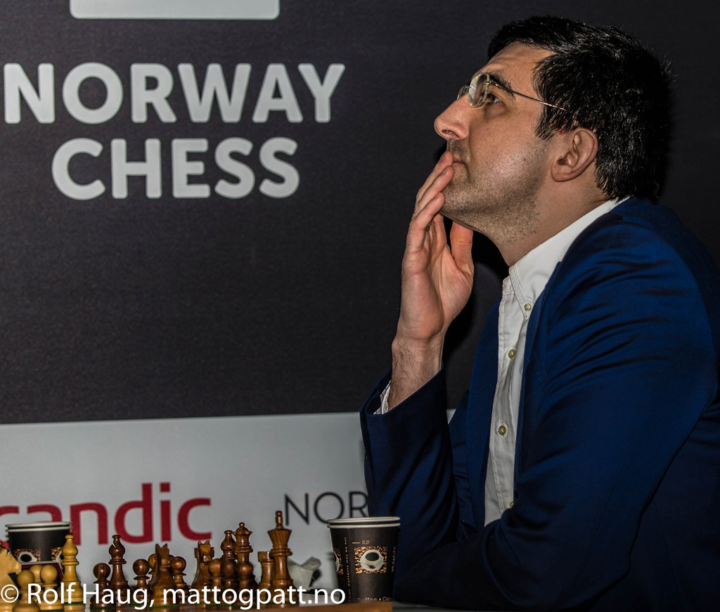 Vladimr Kramnik. Photo: Rolf Haug