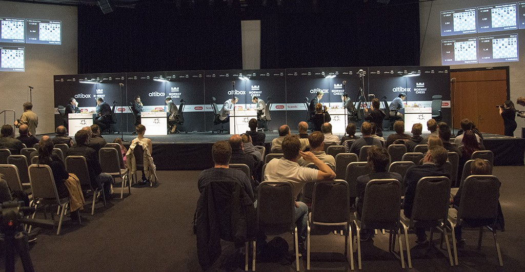 Fra Stavanger Forum, der de første seks rundene spilles. Foto: Even Emberland