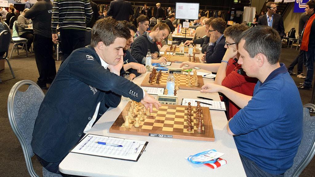 Wojtaszek fra partiet mot Magnus Carlsen i EM på Island, der han tapte. Foto: Tarjei J. Svensen