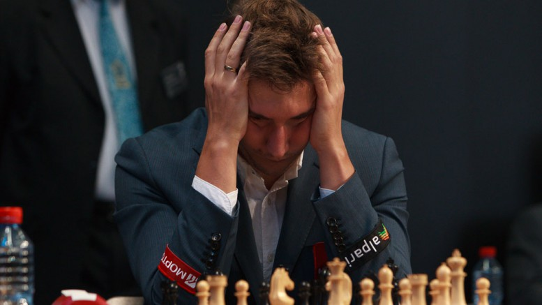 Sergey Karjakin. Foto: WORLD CHESS Press Office; Evgeny Pogonin
