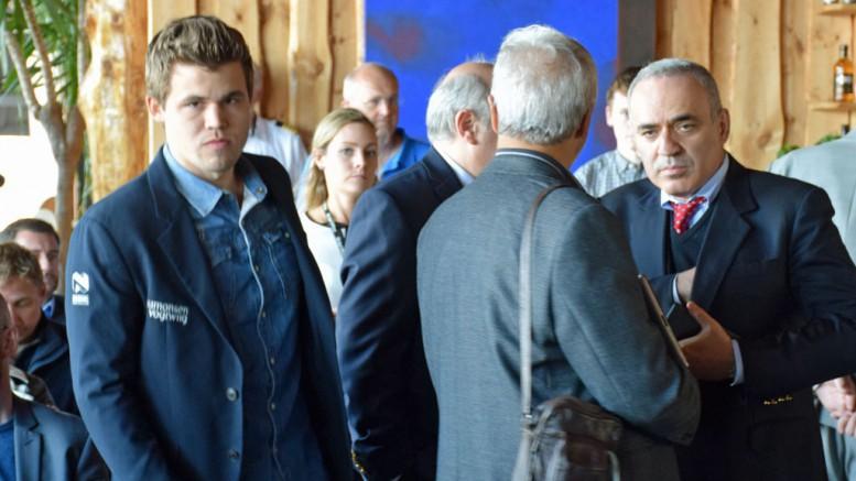 Kasparov + Magnus = sant? Foto: Tarjei J. Svensen