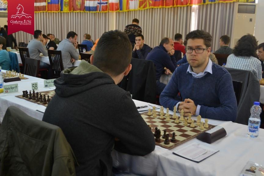 Jon Ludvig Hammer i 6. runde. Foto: EICC2016