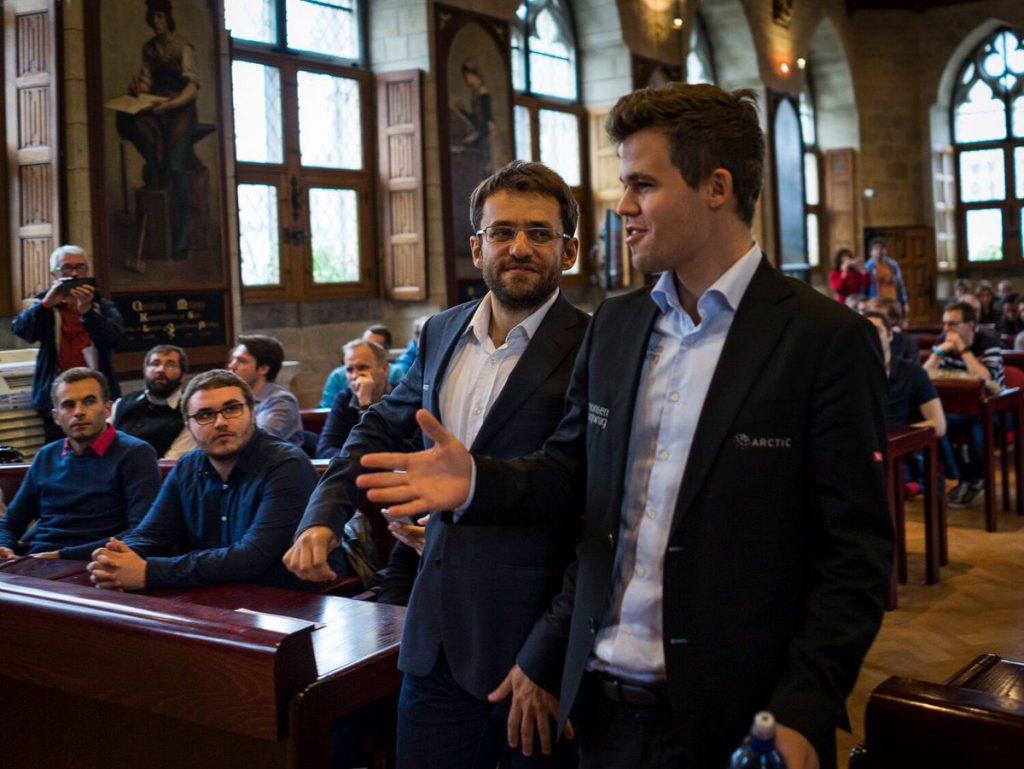 Levon Aronian var ikke i nærheten av å hente igjen forspranget til sin norske rival. Foto: Lennart Ootes