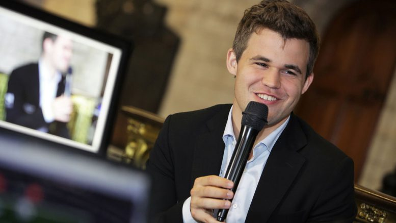 Magnus Carlsen. Foto: Spectrum Studios/Grand Chess Tour