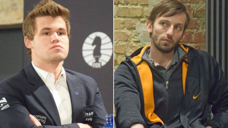 Magnus Carlsen måtte se seg slått av Alexander Grischuk i ICC Open i helgen. Foto: Tarjei J. Svensen/Yerazik Khachatourian