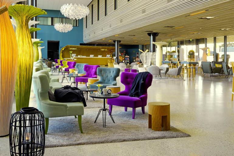 Lobbyen på Scandic Fornebu