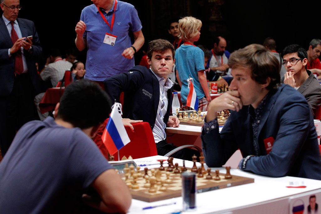 Karjakin er uten seier på ni partier i Bilbao. Foto: Bilbao Masters