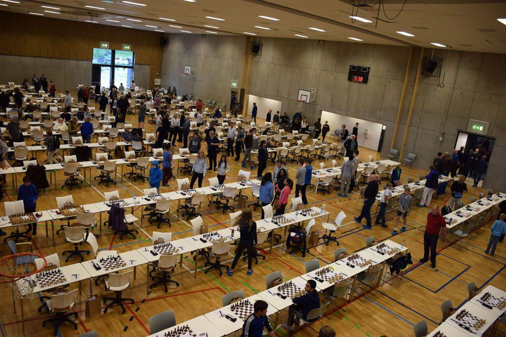Slik så det ut på Tromstun ungdomsskole like før start. Foto: Tarjei J. Svensen