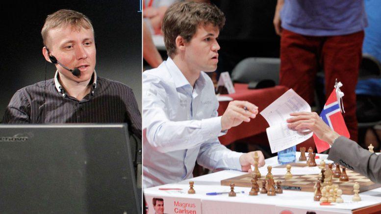 Ruslan Ponomariov hyller Magnus Carlsen etter Bilbao-triumfen. Foto: Bilbao Masters