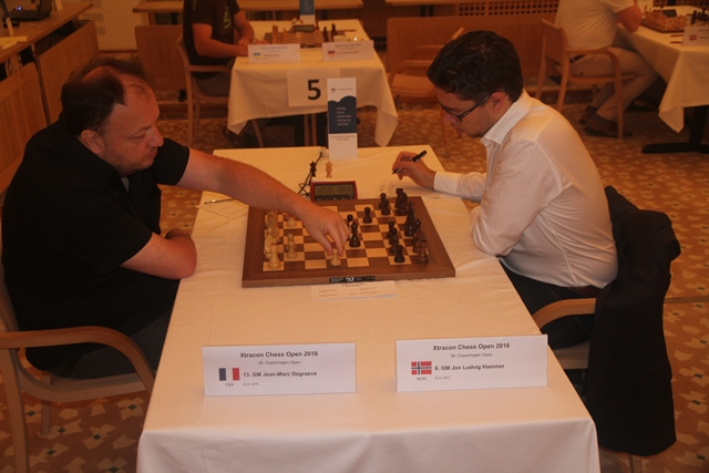 Fra Degraeve - Hammer i siste runde. Foto: Xtracon Chess Open