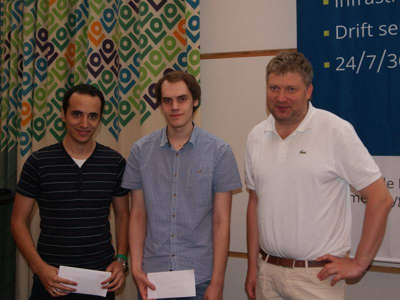 De tre beste i Xtracon Chess Open: Bassem Amin, Mathias Bluebaum og Alexi Shirov. Foto: Xtracon Chess Open