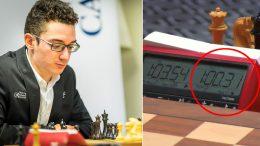 Fabiano Caruana var nær kjempetabbe mot Peter Svidler. Foto: Lennart Ootes/Grand Chess Tour