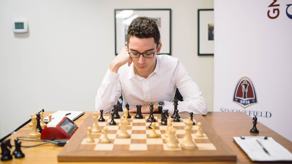 Fabiano Caruana. Foto: Austin Fuller/Grand Chess Tour