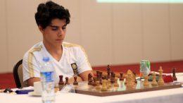 Aryan Tari i det tyrkiske lagmesterskapet. Foto: Doga San/Turkish Chess Federation