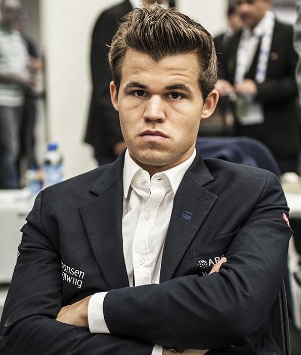 Magnus Carlsen i Tromsø i 2014. Foto: David Llada