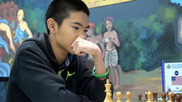 Jeffery Xiong i aksjon i junior-VM. Foto: Offisiell nettside http://wjcc2016india.com/