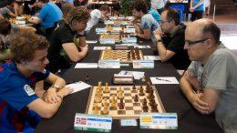 Sebastian Mihajlov i 5. runde. Foto: Pau Pascual/Open de Sants