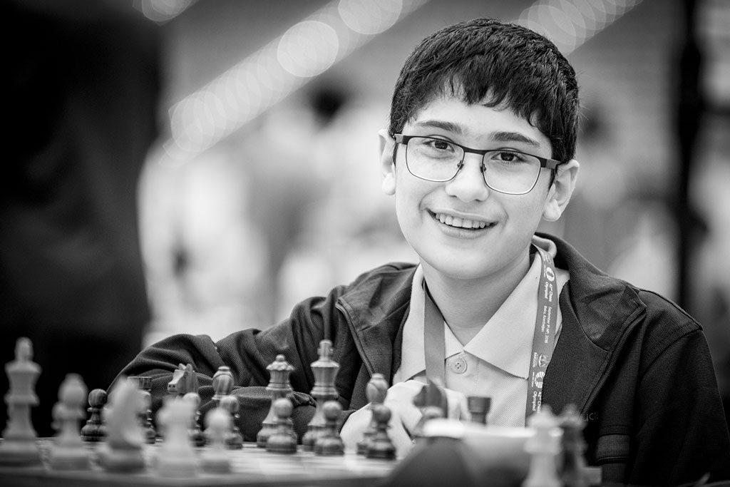 13-årige Ali Reza Firouzja, en av verdens mest talentfulle spillere. Foto: David Llada