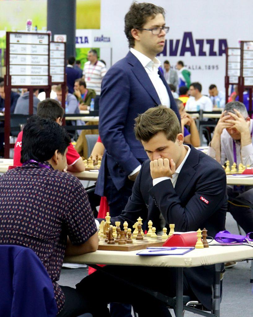 Magnus Carlsen og Jon Ludvig Hammer