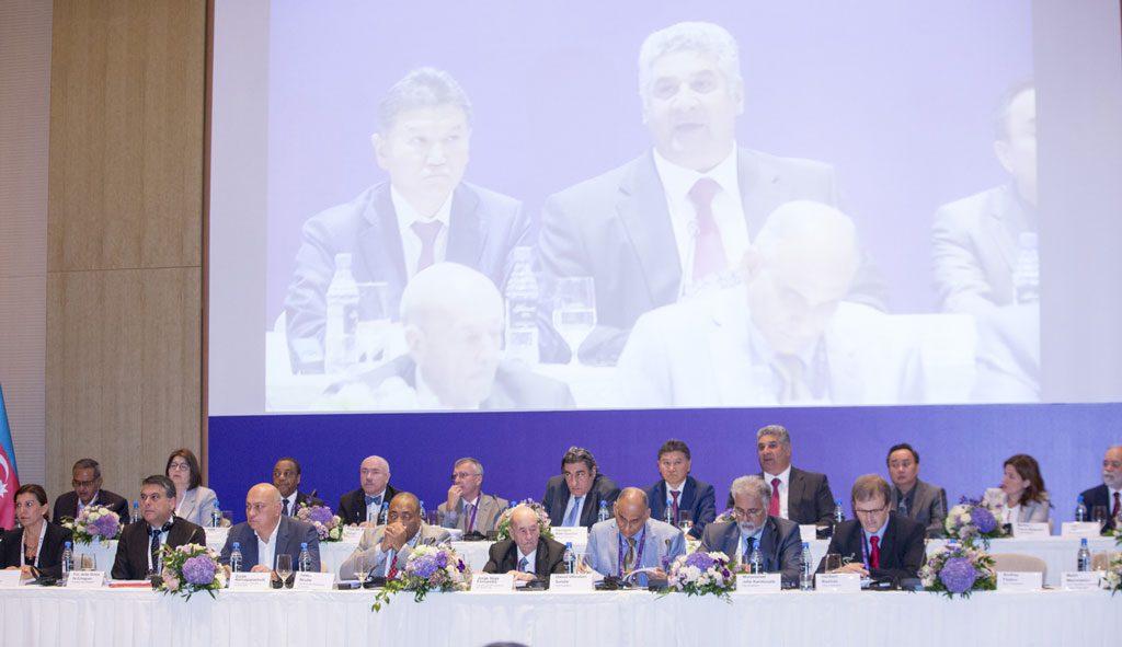 Fra FIDEs kongress i går. Foto: Maria Emelianova