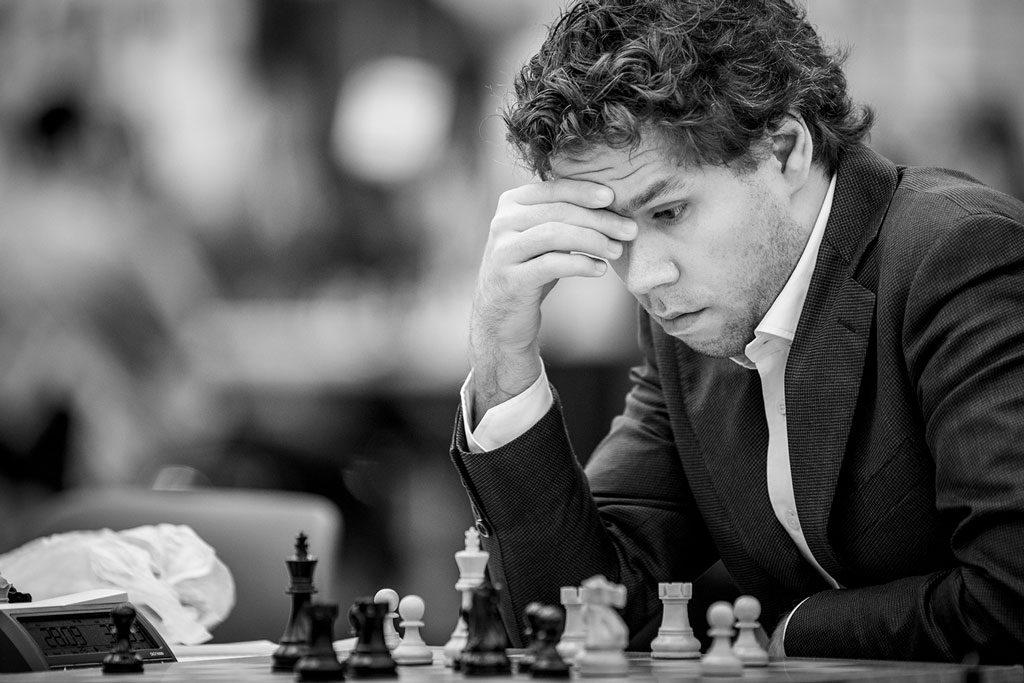 Jon Ludvig Hammer er fortsatt uten seier i Baku. Foto: David Llada/Baku Chess Olympiad