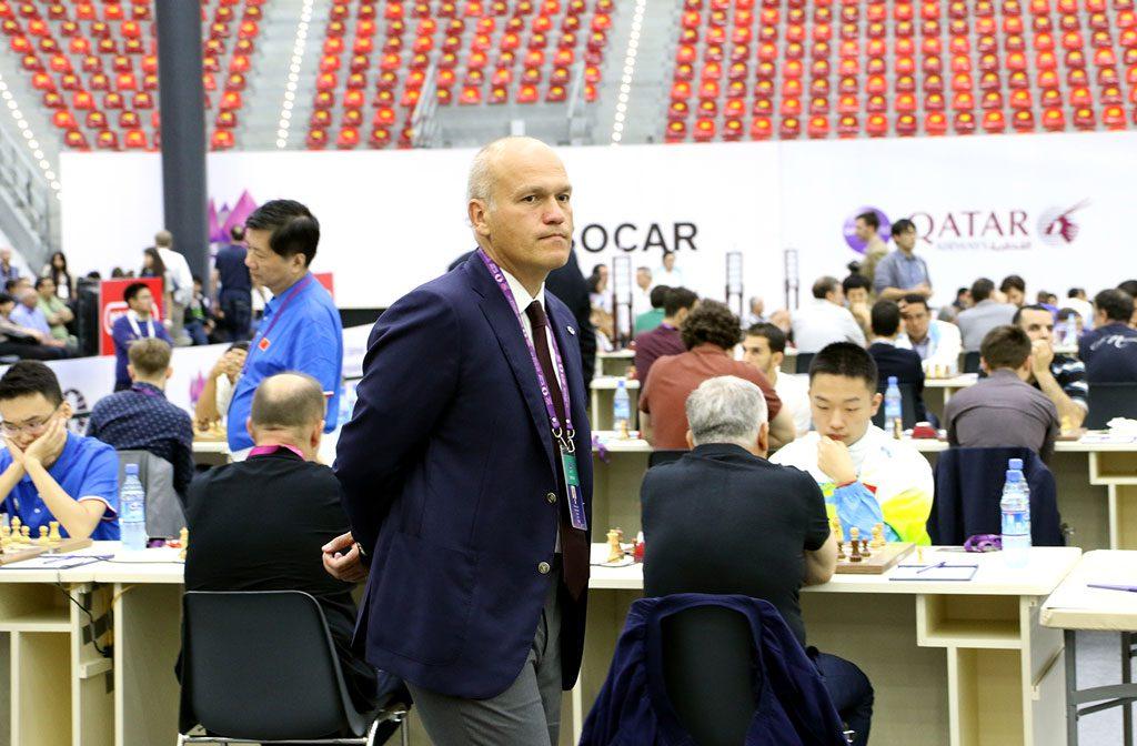 Milliardær og president i det russiske sjakkforbundet Andrei Filatov skal være blant dem som støtter do-regelen. Foto: Eteri Kublashvili