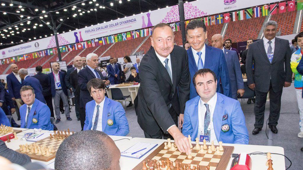 TO PRESIDENTER: Ilham Aliyev og Kirsan Ilyumzhinov. Foto: Maria Emelianova