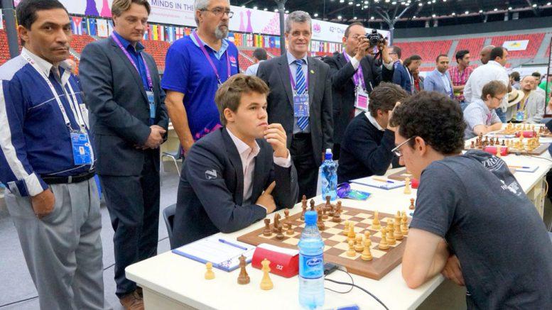 Carlsen spilte Skandinavisk for tredje gang mot Caruana. Foto: Paul Truong.