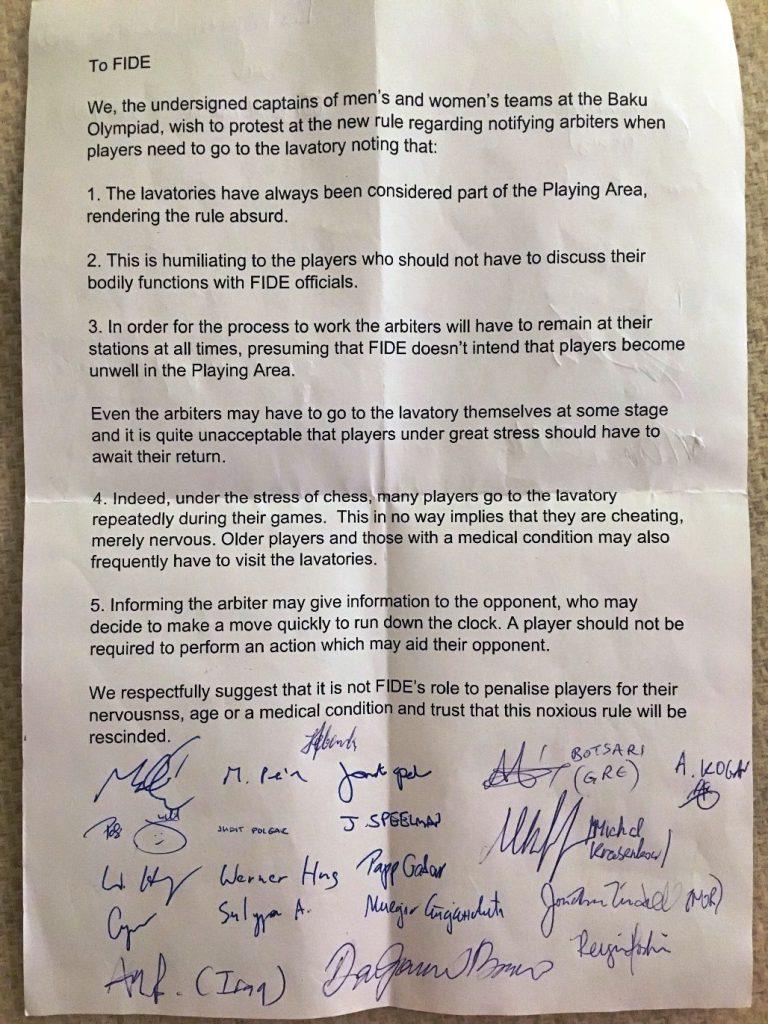 Det originale brevet som blant annet er signert av Jonathan Tisdall.