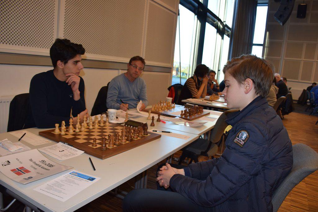 Tor Fredrik Kaasen måtte gi tapt for Aryan Tari i 8. runde. Foto: Tarjei J. Svensen
